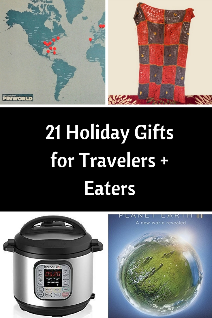 Holiday gifts for travelers and eaters