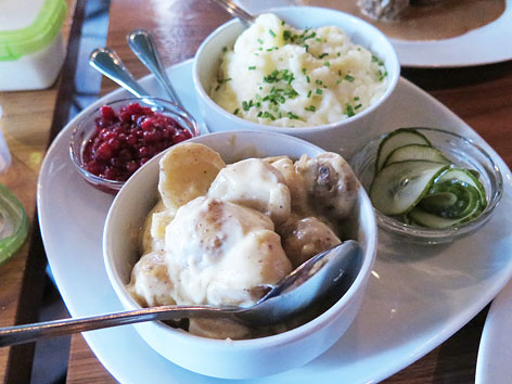 Potatoes and lingonberry in Malmo, Sweden