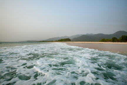 Bureh Beach waves, Sierra Leone