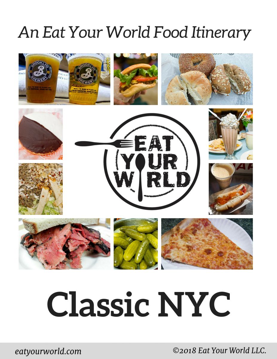 Classic NYC foods one-day eating itinerary