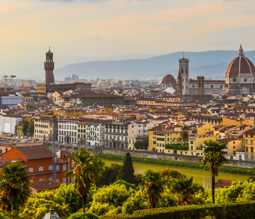 The cityscape of Florence, Italy