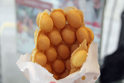 Gai daan zai, or little egg waffles, from Hong Kong