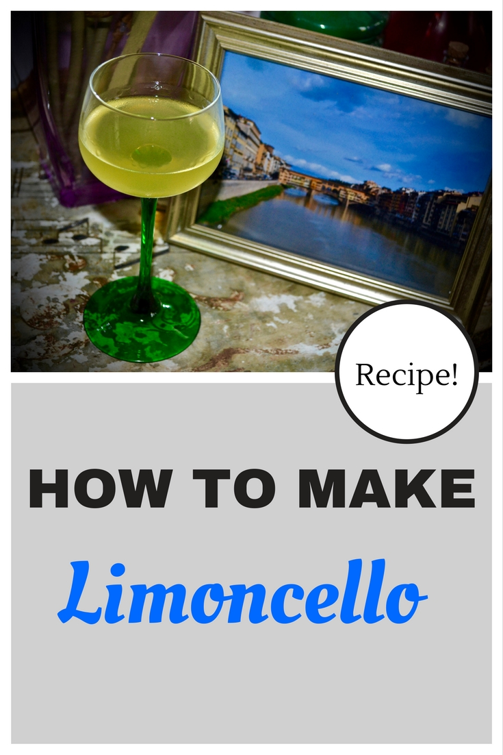 Picture and recipe for making your own limoncello