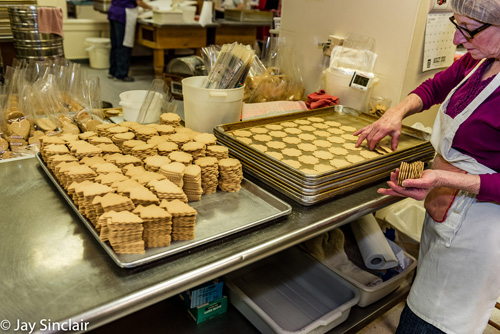 Moravian cookies from Mrs. Hanes in Winston-Salem