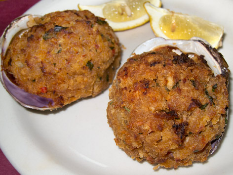 Stuffies, or stuffed quahogs, from Rhode Island