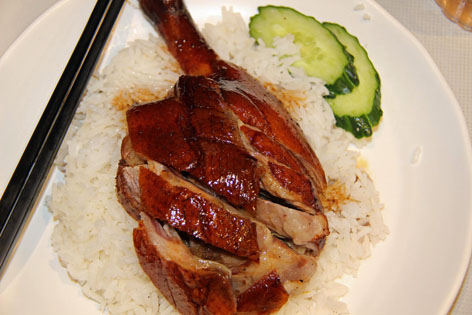 Roast goose in a Hong Kong restaurant