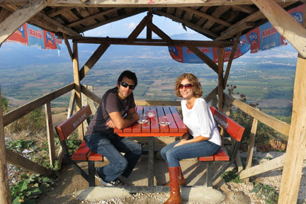 Eat Your World founders Scott Rosen and Laura Siciliano-Rosen in Turkey