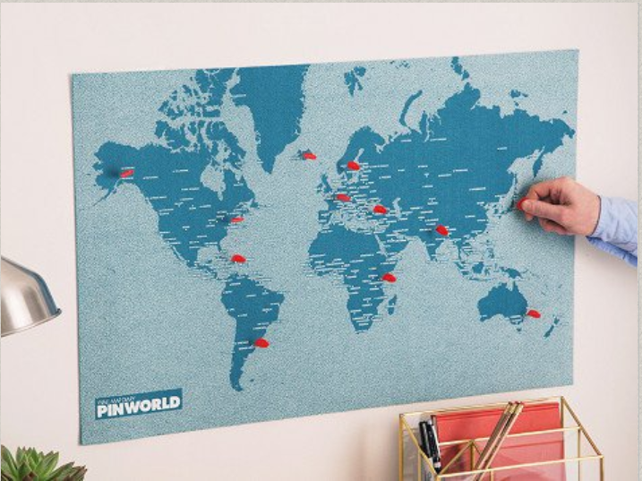 PinWorld map on the Grommet