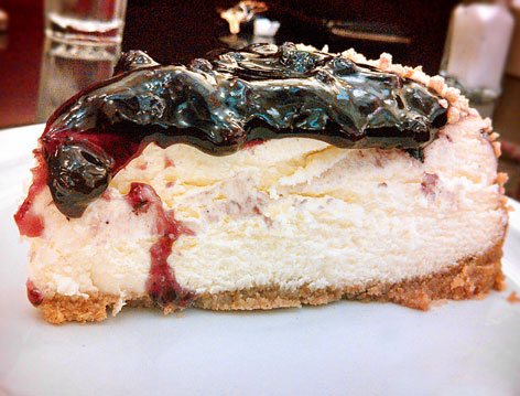 Cheesecake from Jerry's Famous Deli in Los Angeles, CA