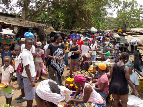 Waterloo market, Freetown Peninsula, Sierra Leone