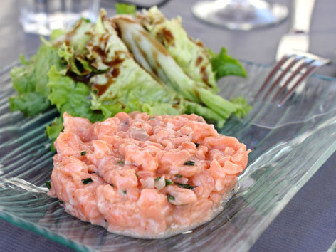 Salmon tartare from Avignon, France