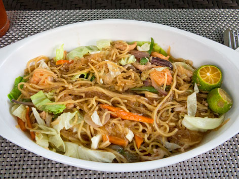 Bam-i noodle dish from Cebu, the Philippines