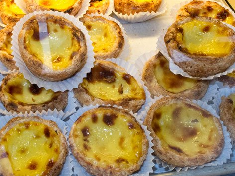 Portuguese egg tarts from Barcelos Bakery in Fall River, MA