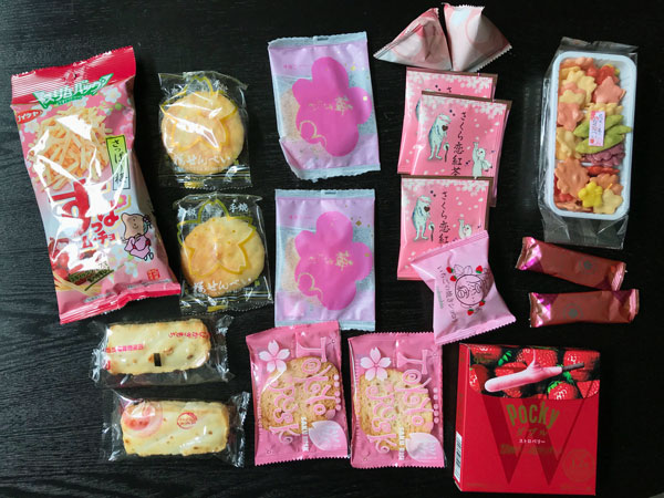 Contents of Japanese snack box Bokksu