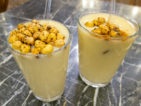 Boza with chickpeas in Istanbul