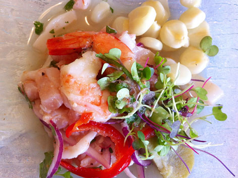 Ceviche from Los Andes restaurant