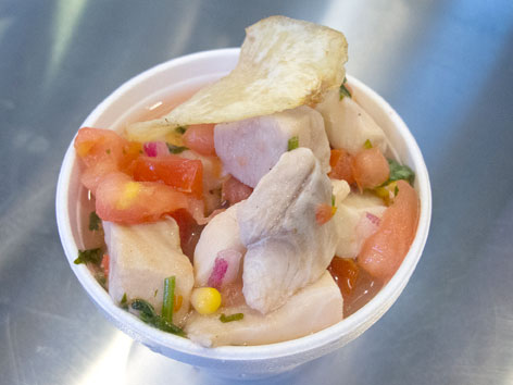 Fish ceviche from Don Camaron in Marlins Park, Miami