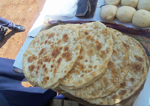 Chapati pan-fried bread, a common dish in Kenya today.