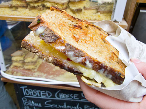 Toasted cheese sandwich from London