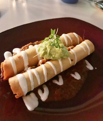 Flautas from the Wynwood Kitchen and Bar in Wynwood, Miami, Florida.
