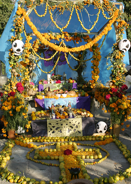 Giant altar for the Day of the Dead in Oaxaca