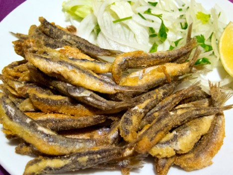Hamsi, or Black Sea anchovies, from Sinop, Turkey