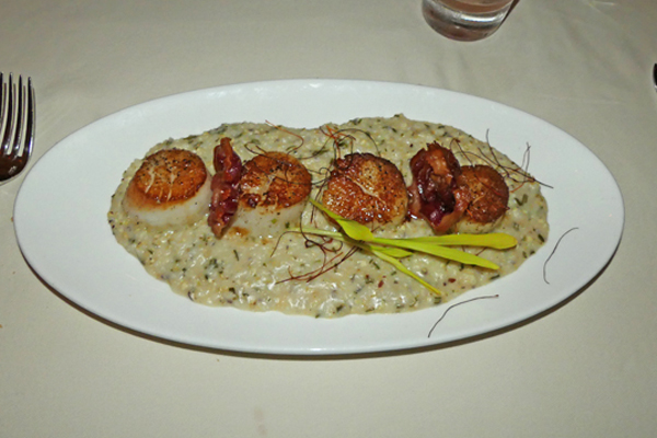 Scallops over grits from Kimball's Kitchen