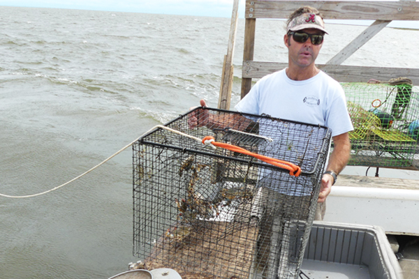 Captain Marc Mitchum, a crabber in Outer Banks, NC