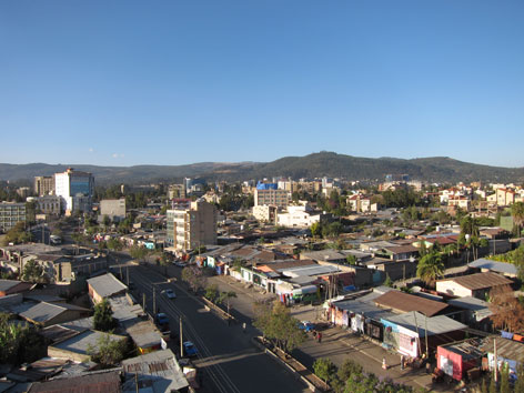 Addis Ababa downtown view