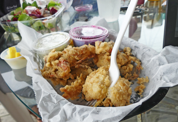 Soft-shell crab from O'Neals in Outer Banks, NC