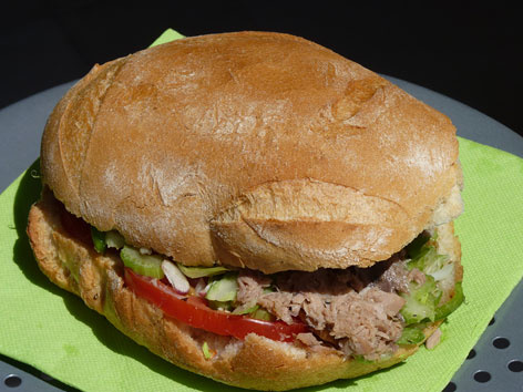 Le pan bagnat, a traditional sandwich from Nice, France