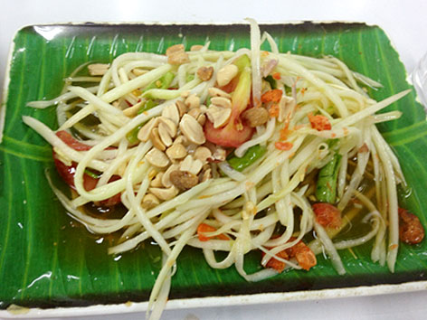 Papaya salad from Thailand