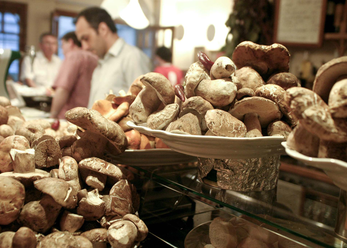 Amazing mushrooms from pintxos Bar Ganbara in San Sebastian, Spain.