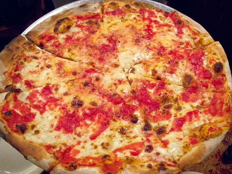 Coal-fired brick-oven pizza from New York City