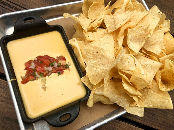 Queso, a traditional Tex-Mex dish, in Houston.