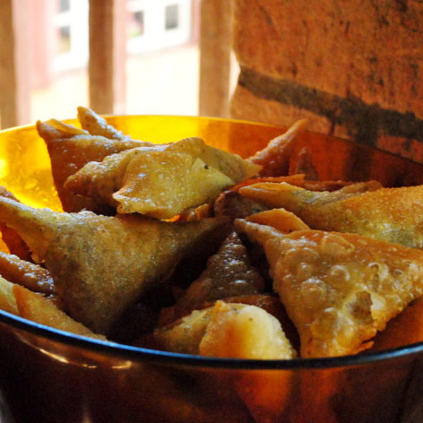 Sambosa, a street food from Madagascar