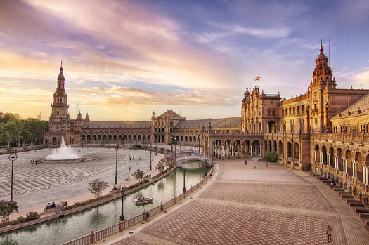Plaza Espana in Sevilla, Spain
