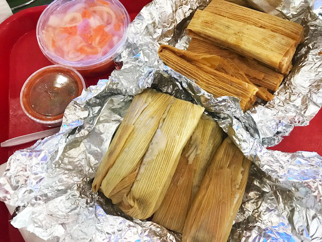 Tamales from Alamo Tamales in Houston, Texas