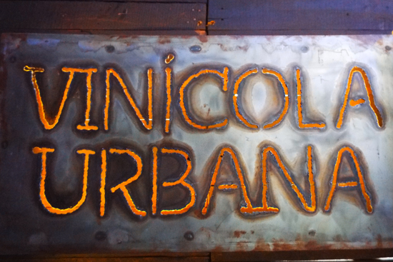 Vinicola Urbana winery sign, Mexico City