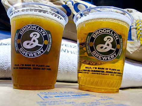 Beer from Brooklyn Brewery in New York City.