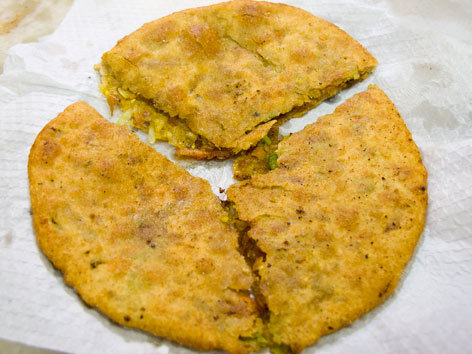 Paratha from Parathewali Gali in Delhi, India.