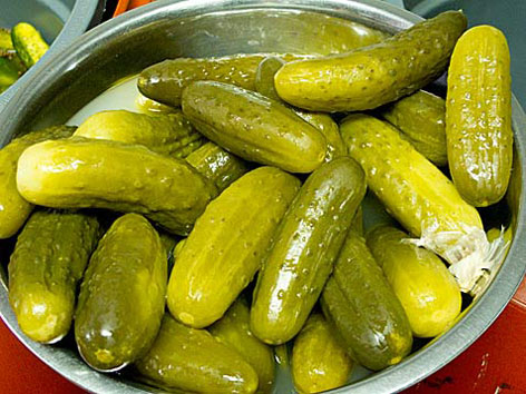 Pickles from The Pickle Guys on Essex Street in New York City.