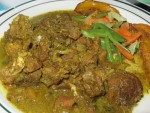 Curry goat from Port Antonio, Jamaica